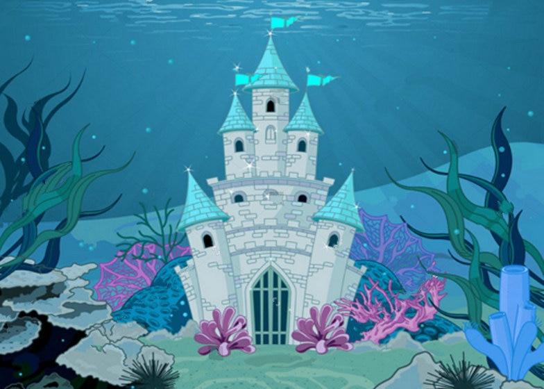 under sea princess Fairy Tale Mermaid enchanted Castle backdrops Vinyl cloth High quality Computer print wall Background светильники trousselier абажур princess fairy 34х22 см