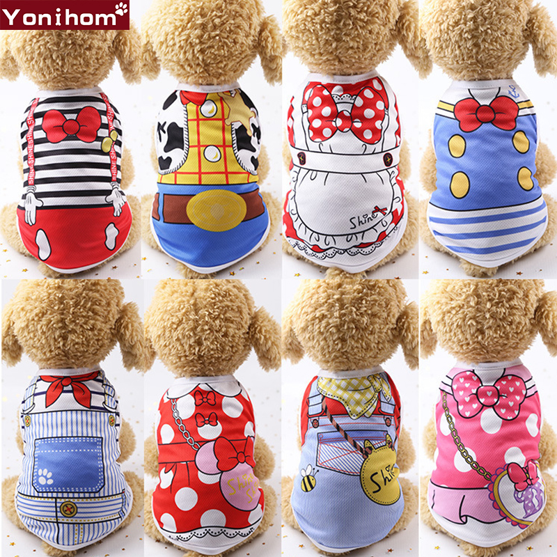 Dog Clothes T Shirt Vest Dog Clothes Chihuahua Hundeshirt Clothing for Dogs Spring Summer Cheap Pet Clothes Summer Puppy Vest