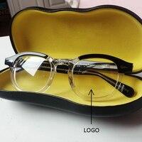 Johnny Depp Glasses Men Optical Glasses Frame Women Brand Design Vintage Style Acetate Eyeglasses With box Top Quality Z313