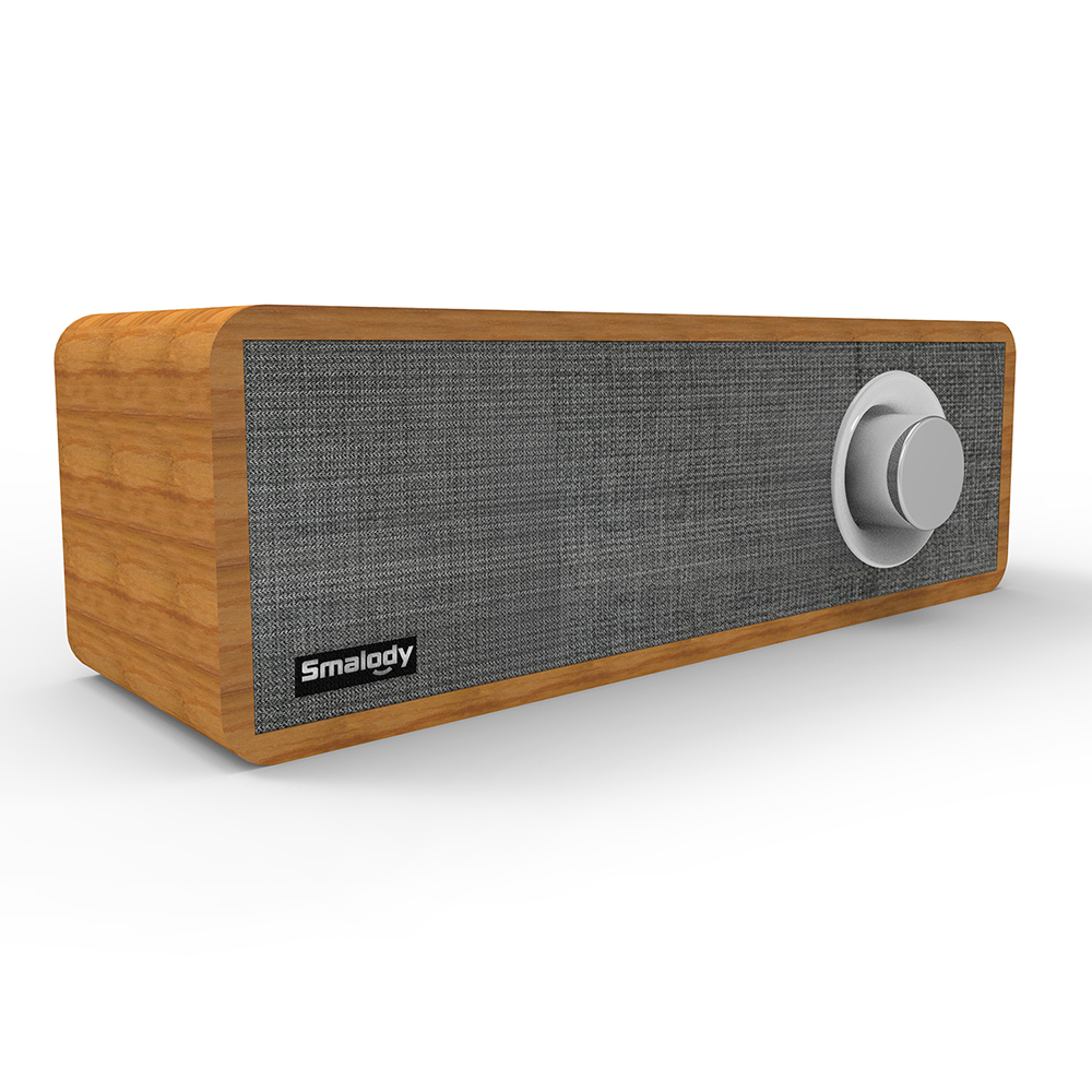 8W Portable Mini Soundbar Desktop Wooden Wireless Strong Bass Powerful Sound Box Music Subwoofer Bluetooth Speaker