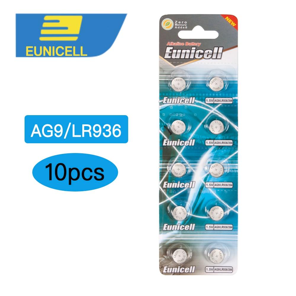 10pcs AG9 394 SR936SW LR936 SR936 194 LR45 L936 1.55V Alkaline Button Cell Coin Battery batteries for Watch стоимость