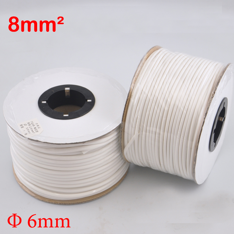 1roll 8mm2 PVC 6mm ID White Handwriting Ferrule Printing Machine Number Plum Tube Wire Sleeve Blank Cable Marker megairon tri clover sanitary spool tube with 51 64mm ferrule clamp ss316 4 6 8 12 18 24 length tube thickness 1 5mm