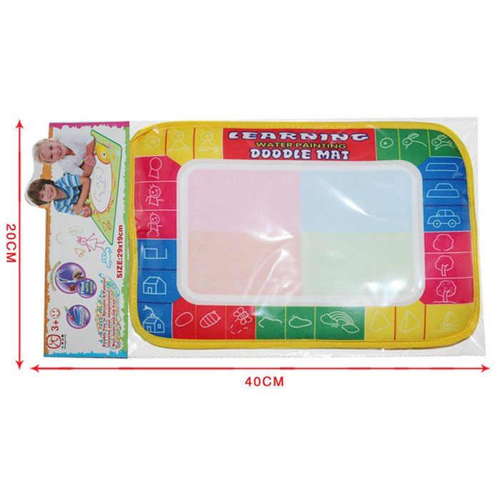 2019 nuevo tablero de pintura de dibujo al agua estera de escritura Magic Pen Doodle juguete regalo 29X19cm niños bebé aprendizaje juguetes de dibujo