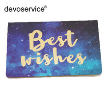 Creative Gilding Process Cosmic Starry Sky Universal Greeting Card Birthday Wishes Valentines Day New Year's Day Blessing Card