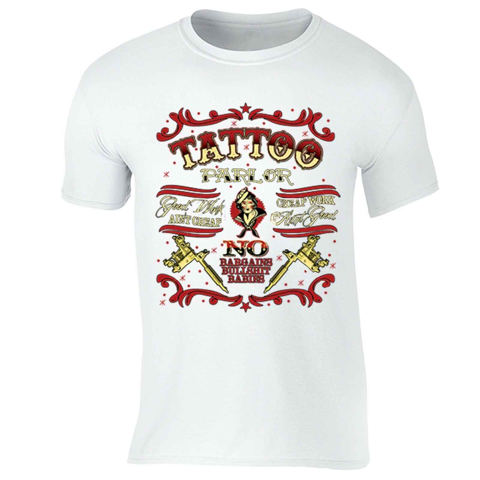 Татуировка салон футболка боди арт хорошая работа баргаинс бульдог * t художника Inked футболка