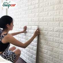 Self adhesive Waterproof TV Background Brick Wallpapers 3D Wall Sticker Living Room Wallpaper Mural Bedroom Decorative Stickers(China)
