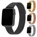 Para apple watch band 42mm milanesa de bucle de la correa brazalete de eslabones de acero inoxidable de apple iwatch venda de 42mm 38mm negro
