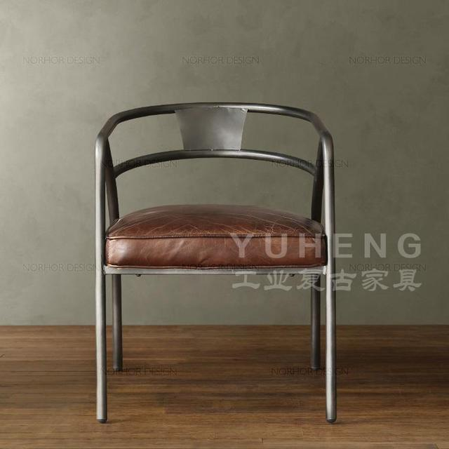 Special iron wood cafe chair dining chair backrest single person to ...
