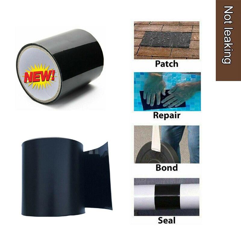 2pcs Garden Water Pipeline Sink Mildew Strong Self-adhesive Black Tape Bathroom Crevice Strip Self-adhesive Pool Water Seal