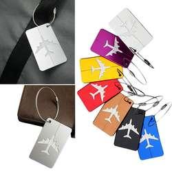 Лидер продаж багажная бирка самолет квадратной формы ID Чемодан идентичность адрес Имя этикетки дорожные аксессуары чемодан доска
