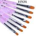 HNM 7 unids/lote Nail Art Brush Pens Pintura Dibujo Cepillos de Uñas de Gel UV set de Manicura Herramientas del Kit del Sistema