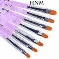 HNM 7pcs/lot Nail Art Brush Pens UV Gel Nail Polish Painting Drawing Brushes set Manicure Tools Set Kit