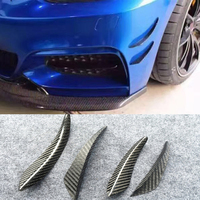 For BMW M3 M4 E90 E93 F10 4PCS/SET Carbon Fiber Car Front Air Vent Decoration Side Fender Trim Free Shipping
