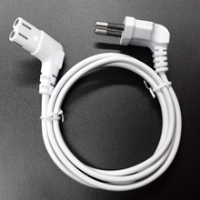 3m Figure 8 C7 replacement AC power cord EU Euro type angled 90 degree for samsung sony sharp LED TV 300cm white