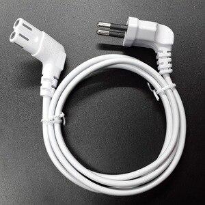 Image 1 - 3m rysunek 8 C7 w celu uzyskania zasilanie prądem zmiennym przewód ue Euro rodzaj pod kątem 90 stopni dla samsung sony sharp telewizor led 300cm biały