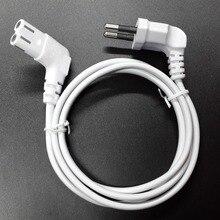 Cable de alimentación de CA de repuesto, 3m, 8 C7, tipo europeo, acodado, 90 grados, para samsung, sony, sharp, LED, TV, 300cm, blanco