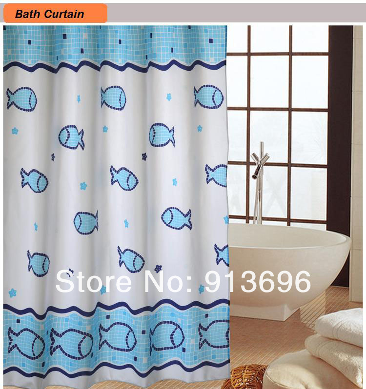 Super Fabric Colorations Bathroom Shower Curtains Metal Grommet Waterproof Thickening Opaque Cartoon In From Home Garden On