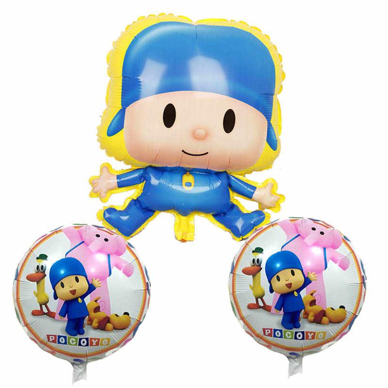 15 pçs/set Dos Desenhos Animados Pocoyo Balões Feliz balões de Festa de Aniversário Da Estrela Teste Padrão de Bolinhas conjunto Inflables Brinquedos Menino Festa Balões de Látex