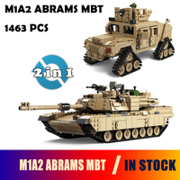 Kazi Military M1A2 Tank Collection Series Trans Toys 1 28 ABRAMS MBT HUMMER Model Building Kits