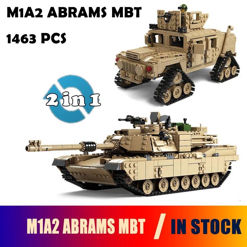 Kazi Military M1A2 Tank Collection Series Trans Toys 1:28 ABRAMS MBT  HUMMER Model Building kits Blocks compatible with lego радиоуправляемый танковый бой huan qi abrams vs abrams масштаб 1 24 27mhz vs 40mhz