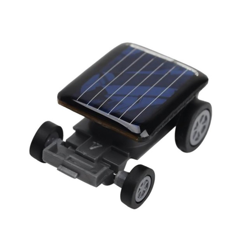 WOTT High Quality Smallest Mini Car Solar Power Toy Car Racer Educational Gadget Children Kid's Toys black