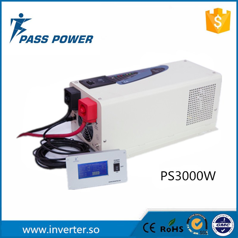 Low Frequency Pure Sine Wave Off Grid Solar Hybrid Inverter 12V/24V/48V 220V 3000W With External LCD Display 3000w wind solar hybrid off grid inverter dc to ac 12v 24v 110v 220v 3kw pure sine wave inverter