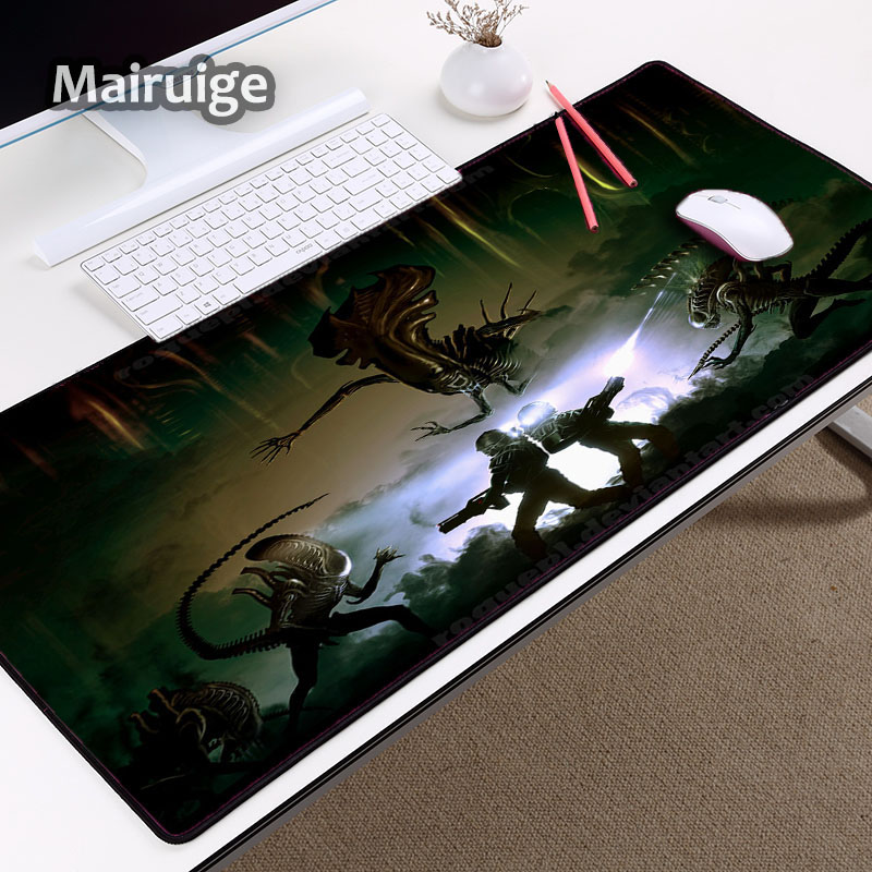 Mairuige Cool XXL Size Big mousepad Alien Monster Pattern Mouse Mat Pc Computer Game Player for Decoration Desktop Locked Edge