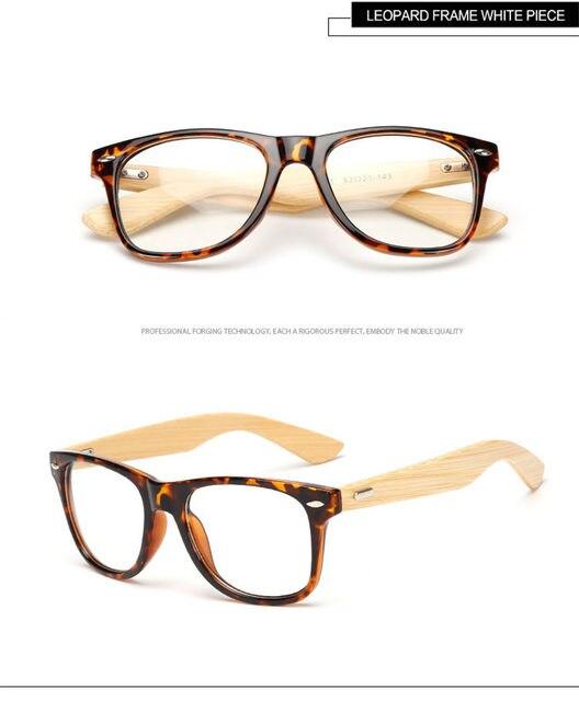 Online Shop Long Keeper 2018 Retro Bamboo Glasses Frame Men Women ...