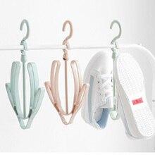 2 Hooks Plastic Shoes Drying Rack Household Hanging Storage Shoe Shelf  shoe organizer for closet