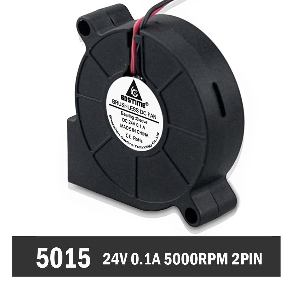 10 Pièces Gdstime Dc 24 V Ventilateur De Ventilateur D'extraction De Refroidissement Sans Brosse 50mm 50x50x15mm 50*15mm 5015 S
