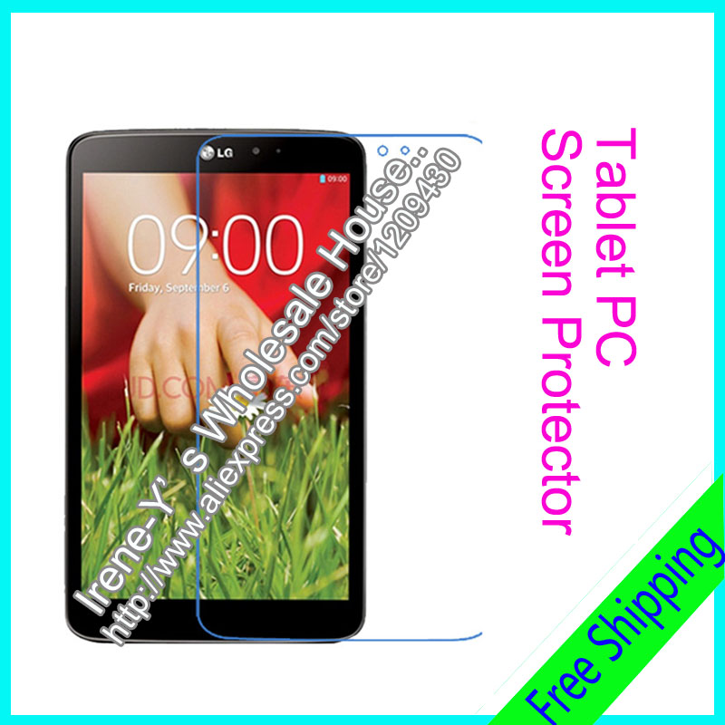 50pcs Clear Ultra Thin Smooth LCD Screen Protector For LG V500 LG G Pad 8.3 Tablet PC Protective Film + Cloth