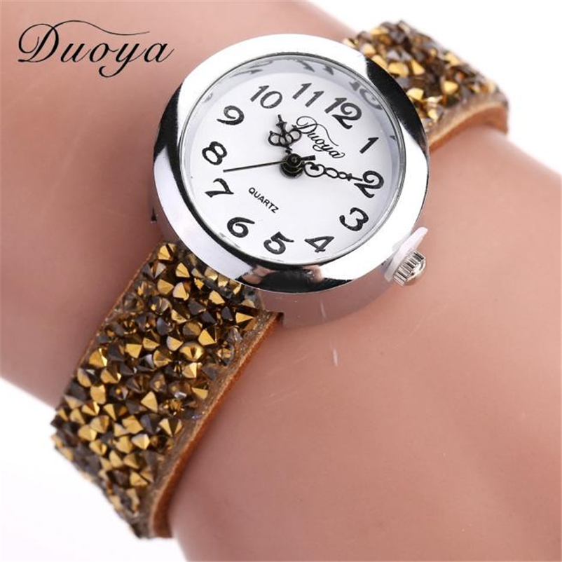 Women Fashion Crystal Rhinestone Bracelet Watch Ladies Quartz Luxury Vintage Women Watch Gift Dropshipping