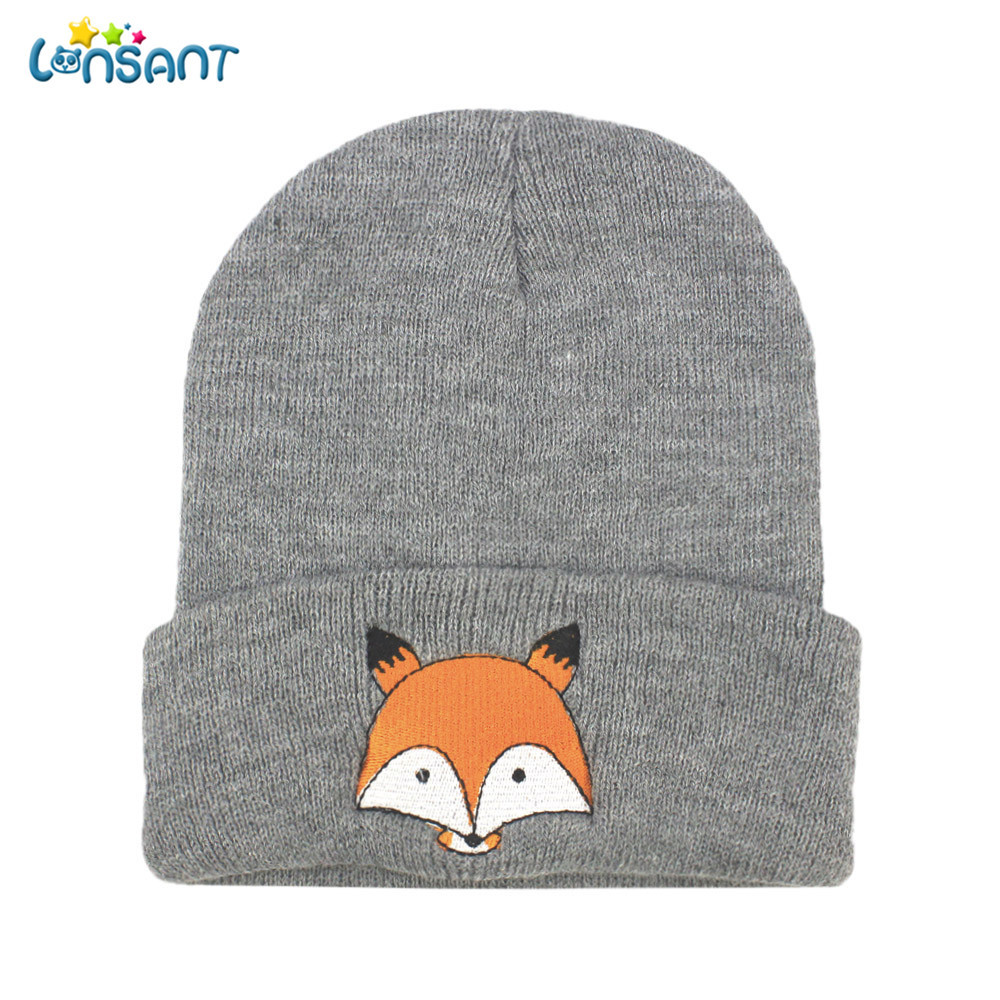 91ec0af258b LONSANT New Hot Baby Girl Autumn Newborn Fashion Baby Children Cap Fox Warm Winter  Hats Knitted Wool Hemming-in Hats   Caps from Mother   Kids on ...
