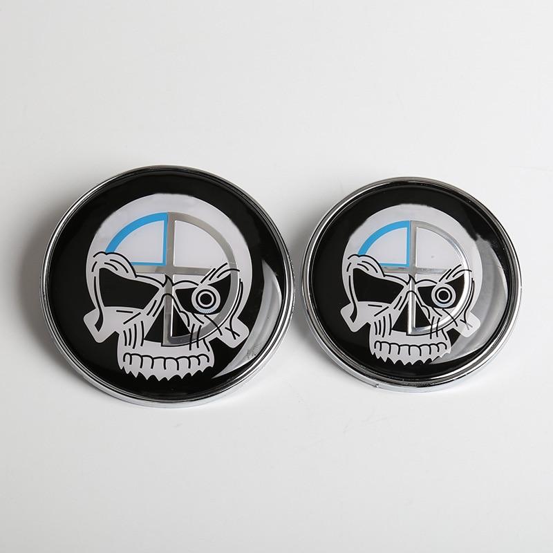 Fit Car Emblem Chrome Front Badge Logo 82mm 2 Pins Hood//Trunk 3//5//7//x//m Series