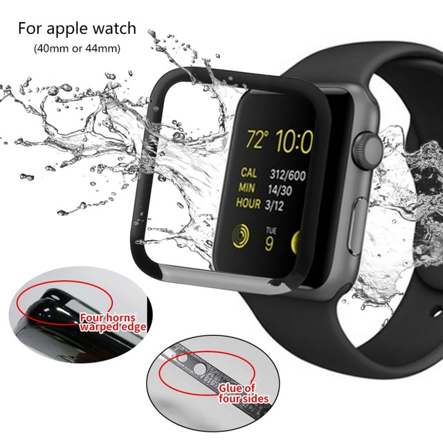 new style 00ebb 0ead9 US $1.54 18% OFF| 1 Set Full Glue Waterproof Full Cover Screen Curved  Tempered Glass Film Screen Protector for Apple I Watch Series 4 40mm 44mm  -in ...