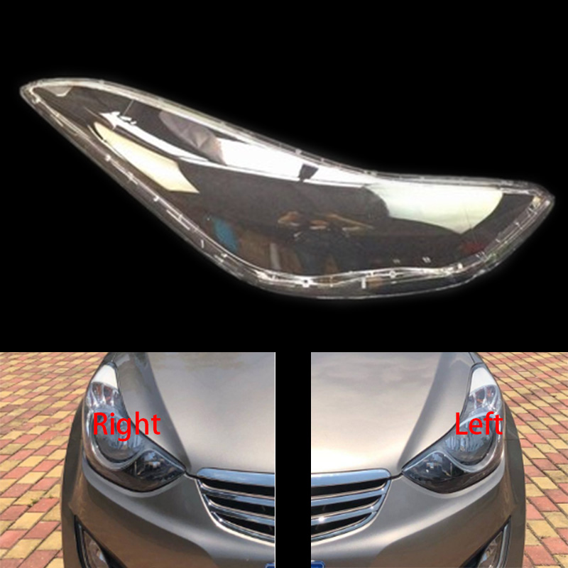 headlights cover headlights shell transparent cover headlamp shells glass lampshade for Hyundai Elantra Avante 12-15 Mitsubishi Pajero