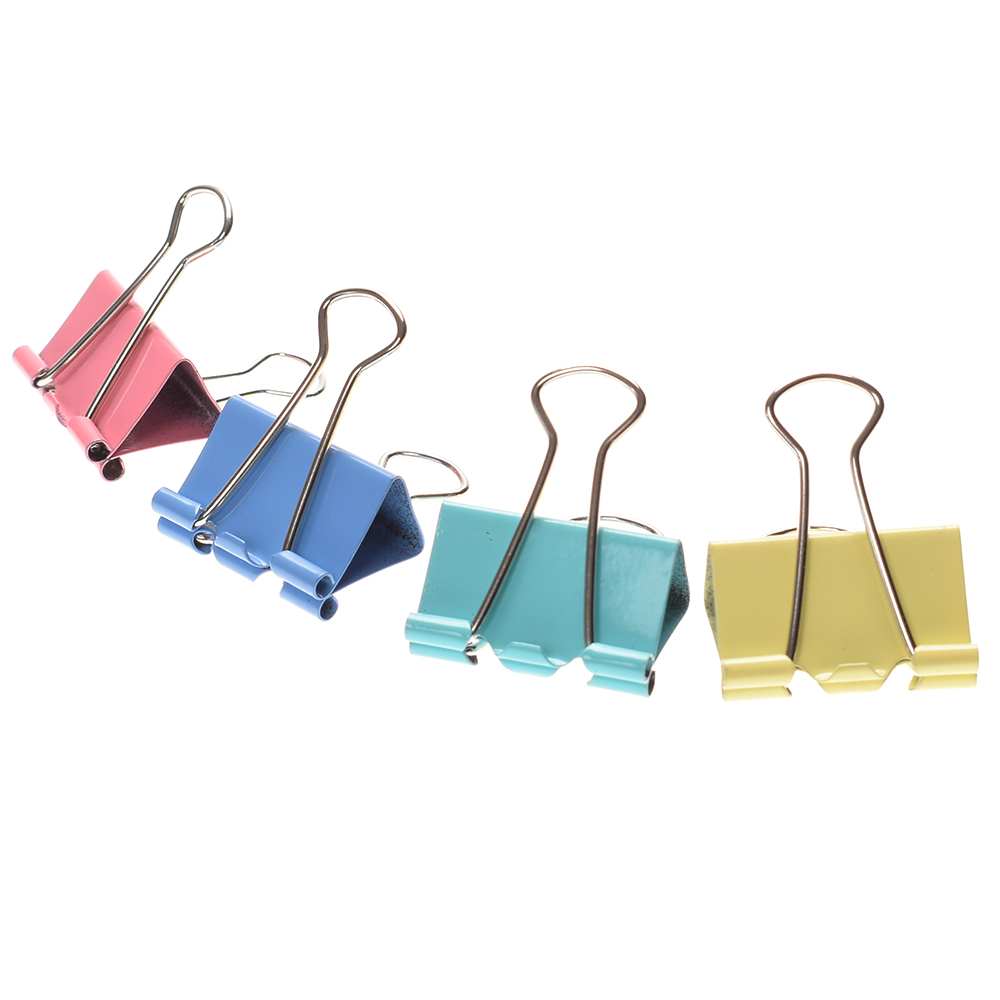 10 Pcs Office Colorful Metal Binder Clips Paper Clip 25mm Office Learning Supplies Color Random Drop Shipping