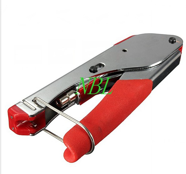 цена на Coaxial Network Cable Plier Compression Tool Crimper for Coaxial Cable F head RG6 RG59 BNC RCA Crimping Connector Free Shipping