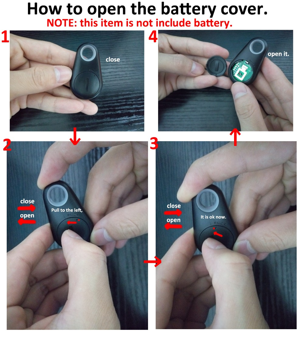 Open the battery cover