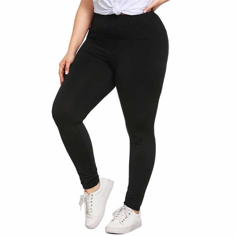Plus Size Yoga Leggings Pants Skinny Fitness Elastic Waist Yoga Pants Women  Trousers Leggins Sexy Leggings eb4c6685a047