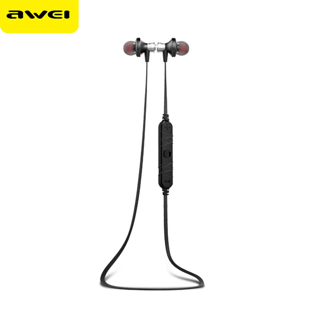 ФОТО New Hot Earphone Awei A860BL Wireless Earphone Bluetooth V4.0 Sport Earbuds With Mic Noise Cancelling And Microphone For iPHONE