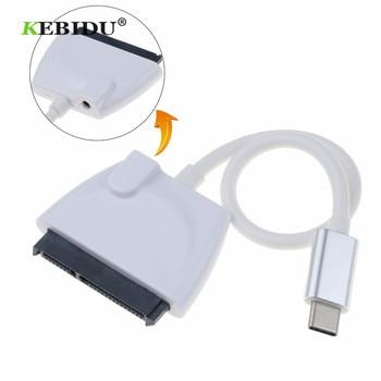 """Kebidu Più Nuovo Tipo C USB 2.0 a Sata convertitore delladattatore del cavo 3 7 + 15PIN Serial ATA III SIM Card e Adattatori per 2.5 """"sata HDD SSD SATA Drive"""