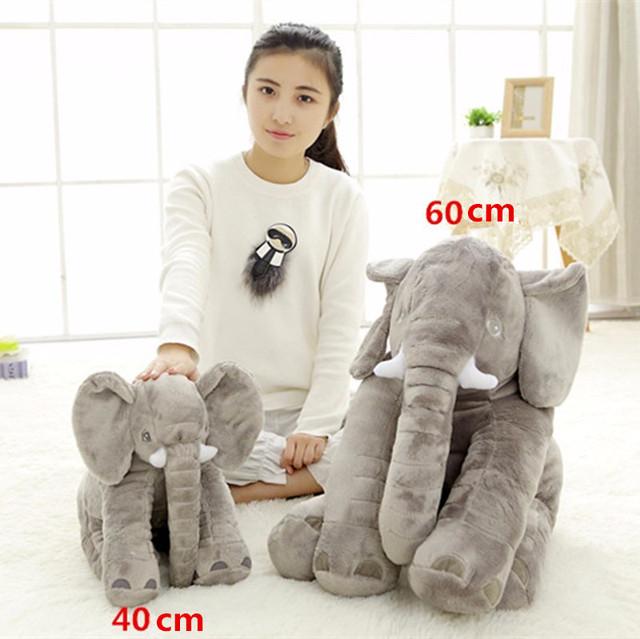 Pequeno Tamanho 40 cm 5 cores Infantil Macio Apaziguar Elefante Playmate Brinquedos do Bebê Boneca Calma Almofada Lombar