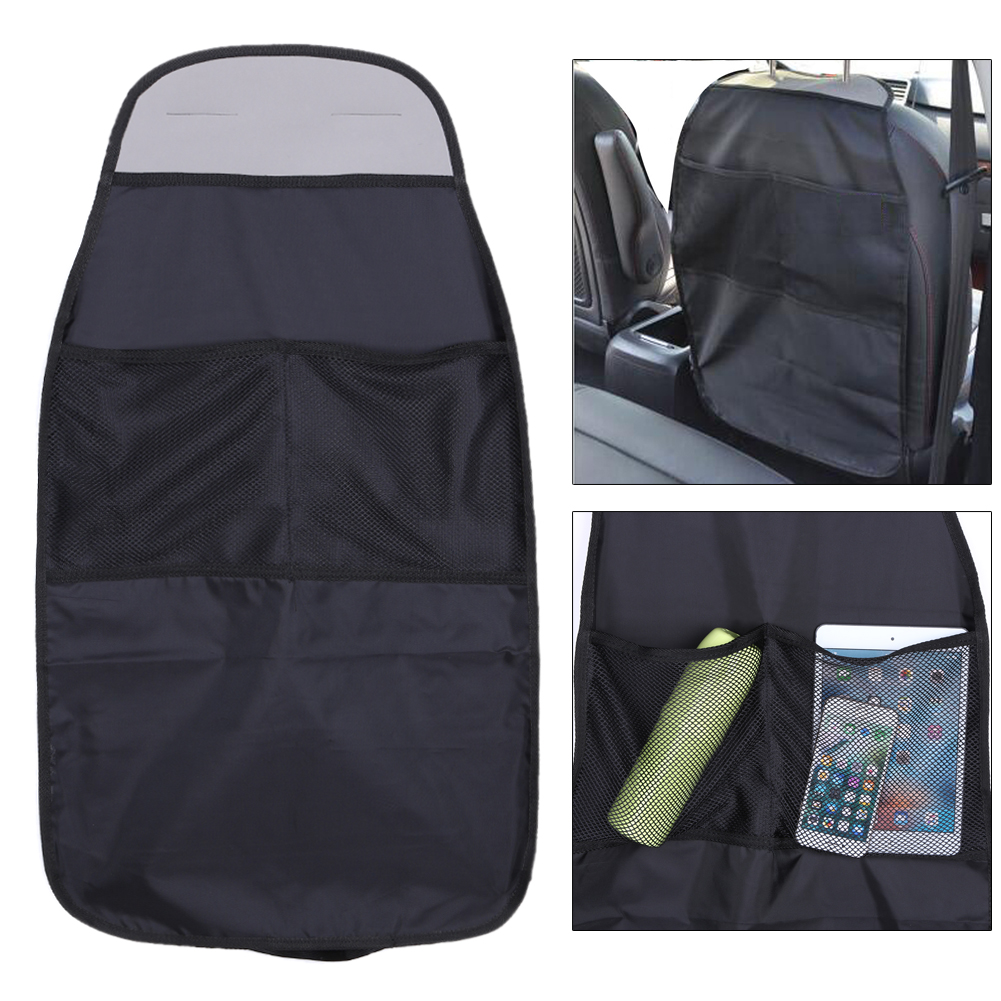 Polyester fiber Kick Mat Waterproof Car Seat Back Storage Organizer Pocket ..