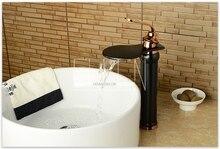 Vysoká klasická umyvadlová baterie s efektem vodopádu ve zlatém, chromovém či bílém provedení