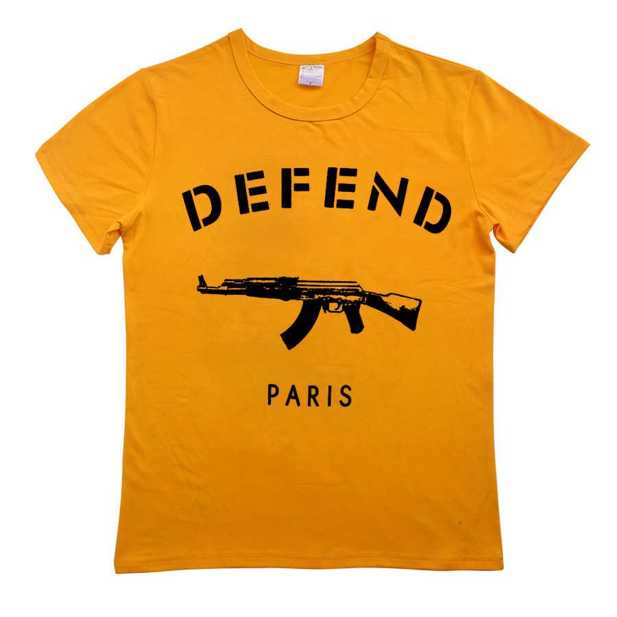 방어 파리 ak47 tshirt 여성 편지 t-셔츠 인쇄 재미 티 셔츠 여성 상위 의류 짧은 소매 티셔츠 코 튼 o-목