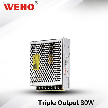 (T-30B) Fuente de alimentación de conmutación Triple 30W 5V 12V -12V no impermeable