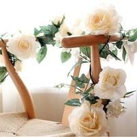 1PC Fake Artificial Rose Vane Silk Decorative Party Flowers For Home Hotel Wedding Garden Decor European