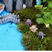 Big Sale Crafts Decorations Miniature Multicolour Tree Stump Fairy Terrarium Christmas Xmas Party Garden Gift