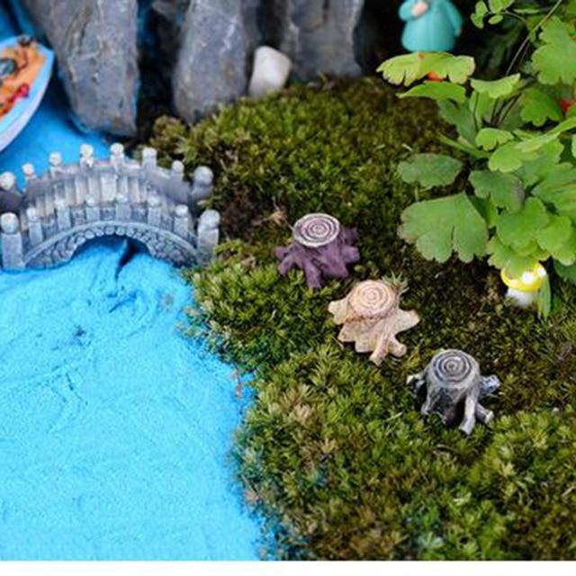 Big Sale Crafts Decorations Miniature Multicolour Tree Stump Fairy  Terrarium Christmas Xmas Party Garden Gift